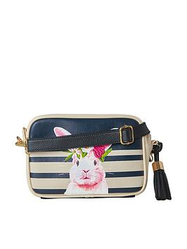 joe-browns-cute-pink-rabbit-bag-navy