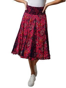 joe-browns-elegant-godet-skirt-red