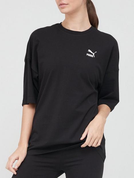 puma-classics-loose-t-shirt-black
