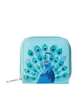 joe-browns-stunning-embroidered-peacock-purse-blue