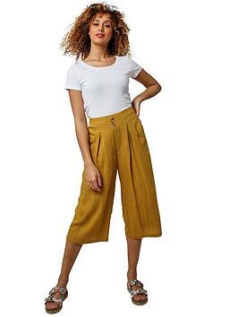 joe-browns-wide-leg-cropped-trousers-ochre