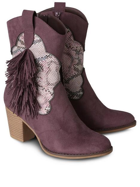 joe-browns-fabulous-weekend-boho-boots-mauve