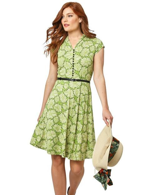 joe-browns-belted-floral-dress-green