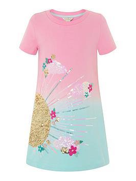 monsoon-girls-sunshine-ombre-sweat-dress-pink