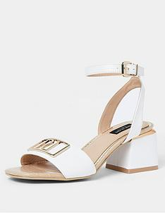 river-island-wide-fit-branded-two-part-sandal-white