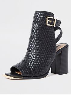 river-island-textured-heeled-shoeboot-black