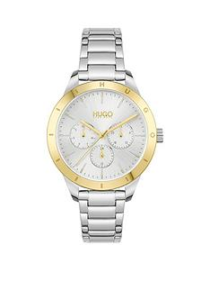hugo-hugo-friend-silver-white-dial-and-stainless-steel-bracelet-ladies-watch