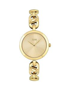 boss-chain-yellow-gold-ladies-watch