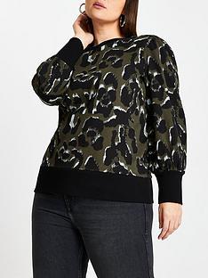 ri-plus-leopard-blouson-sleeve-sweater-khaki
