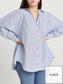ri-plus-cut-out-back-shirt-blue