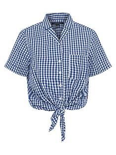 french-connection-french-connection-rita-check-tie-front-shirt