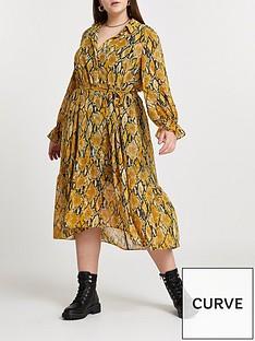 ri-plus-floral-print-midi-shirt-dress-yellow-print
