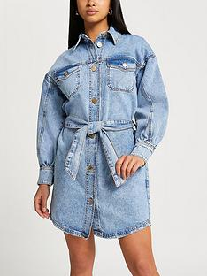 ri-petite-denim-shirt-dress-blue