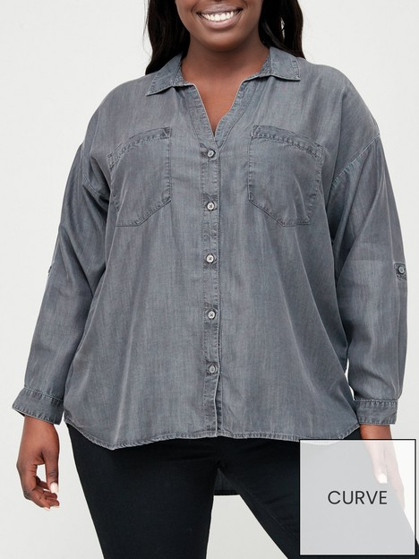v-by-very-curve-soft-touch-casual-shirt-grey
