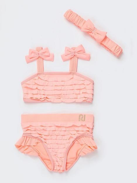 river-island-mini-mini-girls-shirred-bikini-and-headband-pink