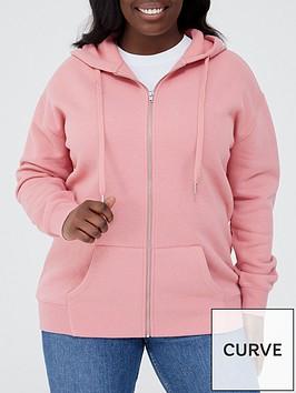 v-by-very-curve-zip-through-hoodie-dark-rose