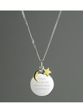 the-love-silver-collection-personalised-sterling-silver-9ct-gold-plated-i-love-you-to-the-moon-and-back-necklace