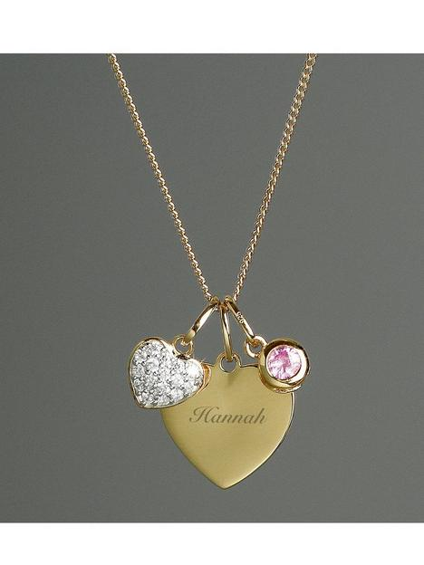 the-love-silver-collection-personalised-gold-plated-heart-necklace-with-charms