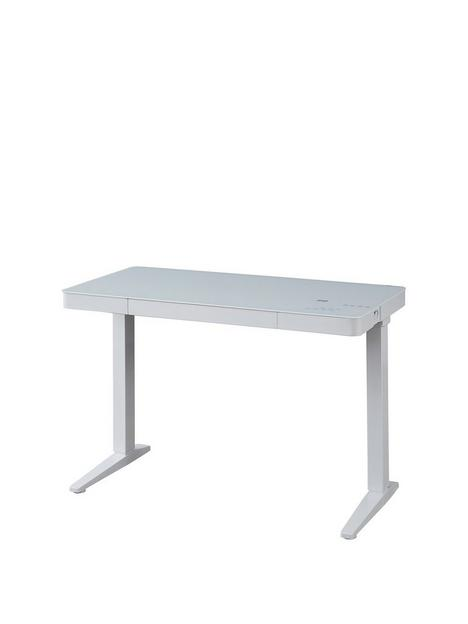koble-lana-20-desk-with-wireless-charging-bluetooth-speakers-and-electric-height-adjustmentnbsp--white