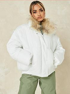 missguided-missguided-ultimate-fauxnbspfur-collar-padded-jacket-white