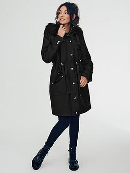 michelle-keegan-premium-faux-fur-hooded-longline-parka-black