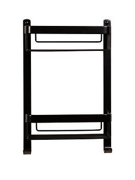 croydex-aluminium-2-tier-basket-black
