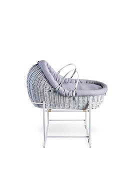 clair-de-lune-cotton-dream-grey--white-willow-bassinet-with-white-deluxe-stand