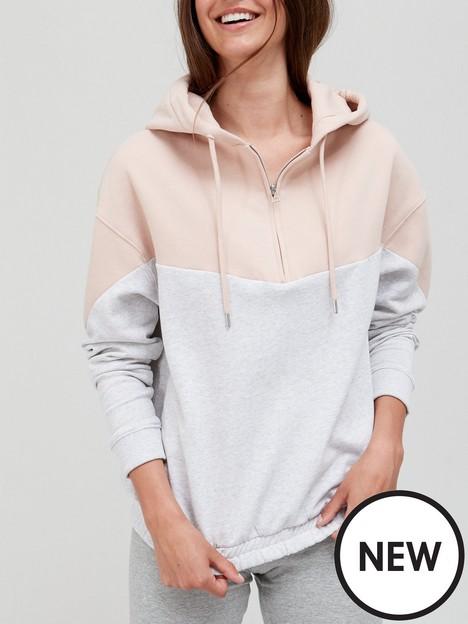 v-by-very-chevron-zipper-hoodie-pinkgrey