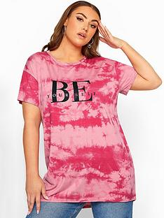 yours-yours-limitednbspbe-yourself-pink-tie-dye-t-shirt