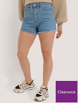 na-kd-denim-shorts-light-blue
