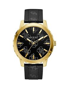 guess-guess-outlaw-black-logo-dial-gold-bezel-black-strap-mens-trend-watch