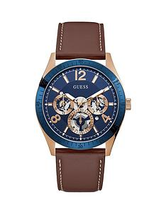 guess-guess-vector-mens-blue-chronograph-dial-leather-strap-dress-watch