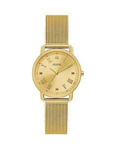 guess-guess-avery-champagne-dial-gold-stainless-steel-mesh-bracelet-ladies-dress-watch