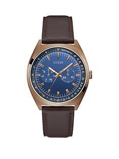 guess-guess-blazer-blue-dial-brown-strap-mens-dress-watch