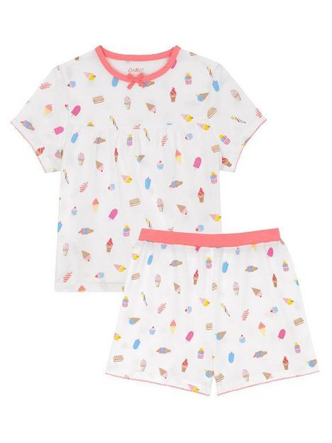 cath-kidston-girls-ice-cream-short-sleeve-jersey-shorty-pyjamas-cream