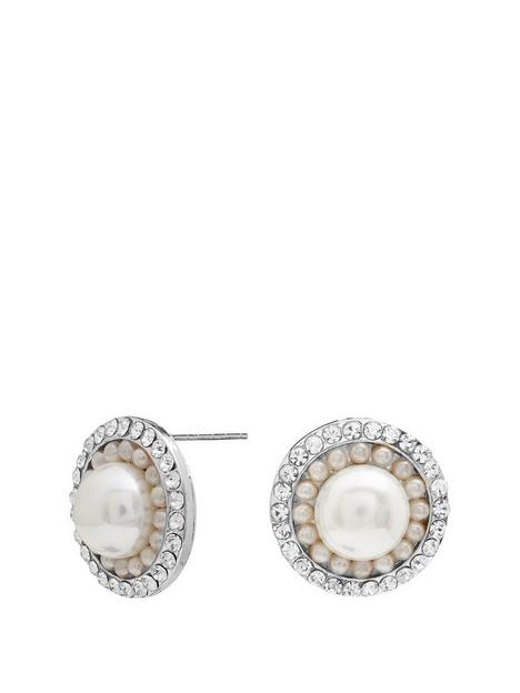 mood-silver-plated-pearl-large-stud-earring