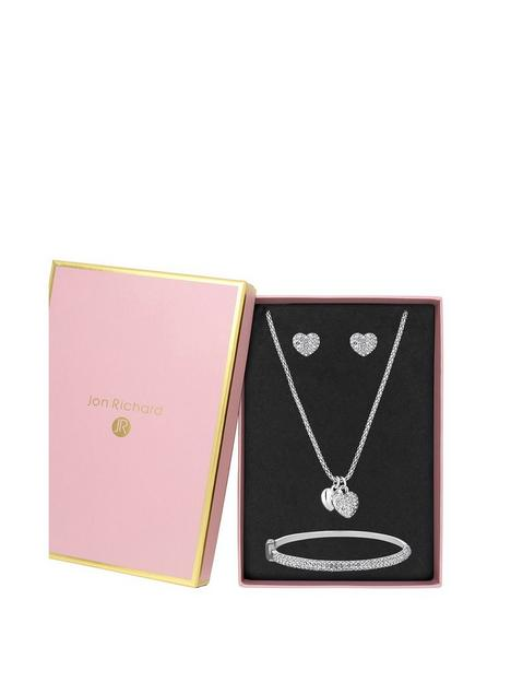 mood-silver-plated-crystal-pave-heart-jewellery-set