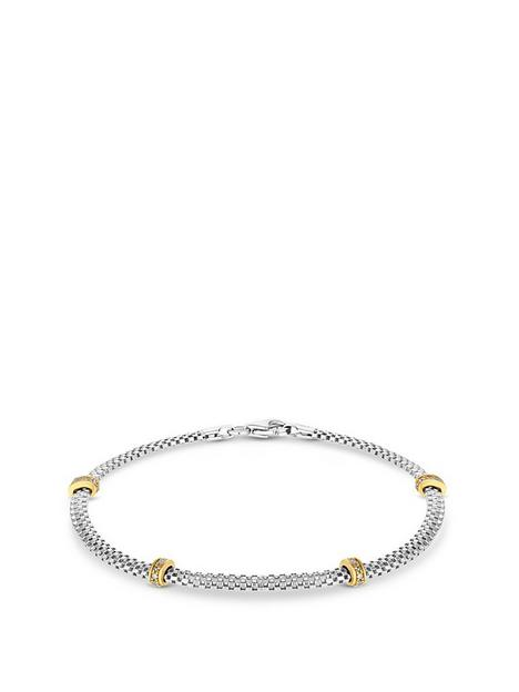 simply-silver-sterling-silver-925-cubic-zirconia-2-tone-mesh-station-bracelet