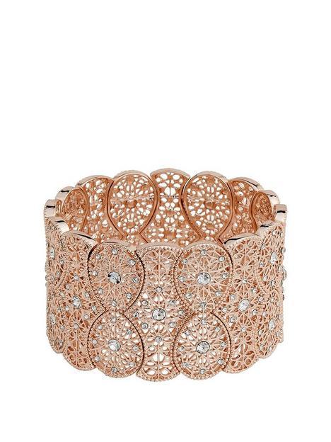 mood-rose-gold-plated-wide-filagree-stretch-bracelet