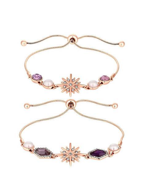 mood-rose-gold-plated-pink-crystal-2pack-celestial-toggle-bracelet