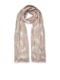 katie-loxton-metallic-scarf-dandelion-print-natural
