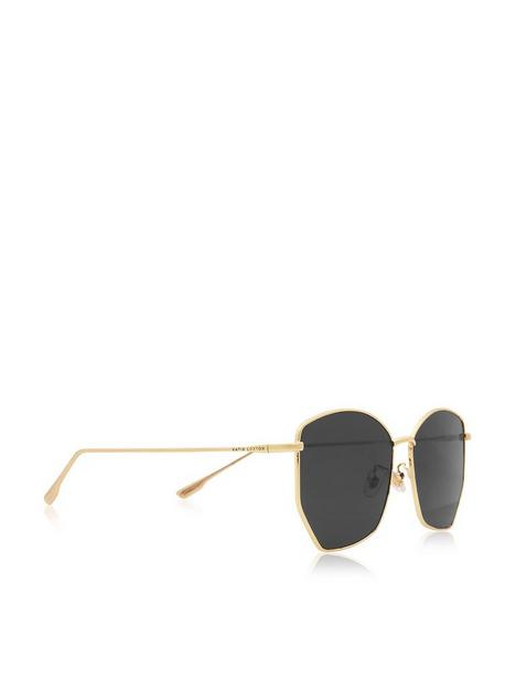 katie-loxton-hexagonal-sunglasses-black