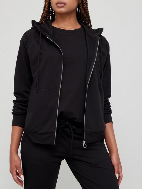 v-by-very-zip-through-hoodie-co-ord-top-black