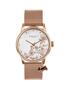 radley-radley-floral-dial-rose-dog-charm-rose-tone-stainless-steel-watch