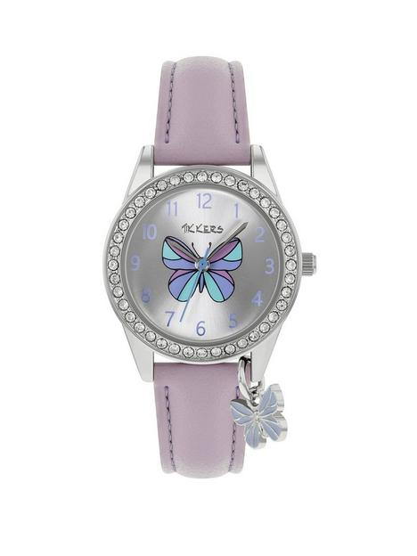 tikkers-tikkers-butterfly-dial-butterfly-charm-strap-watch