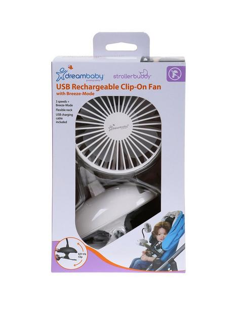 dreambaby-dreambaby-usb-rechargeable-clip-on-caged-fan-white