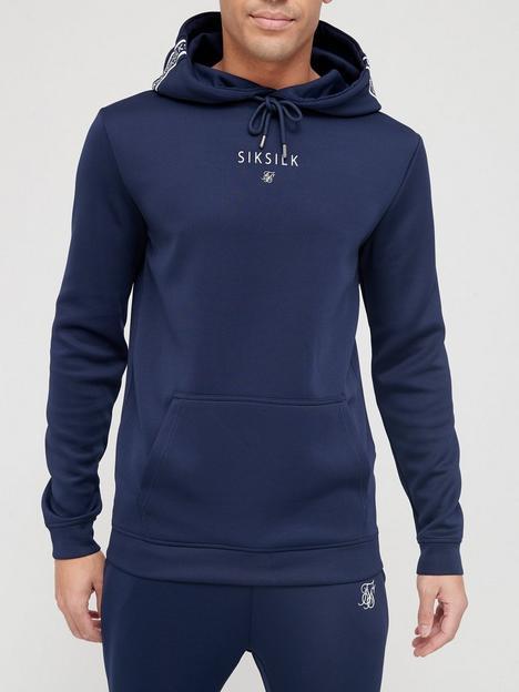 sik-silk-element-muscle-fit-overhead-hoodie-navy