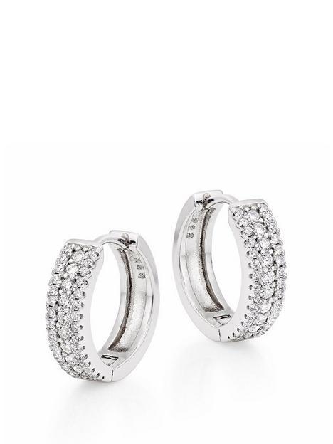 beaverbrooks-beaverbrooks-silver-cubic-zirconia-triple-row-hoop-earrings