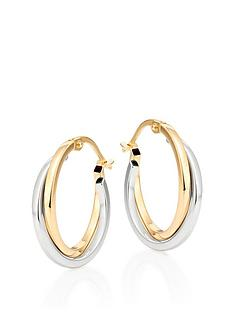 beaverbrooks-beaverbrooks-9ct-gold-and-white-gold-hoop-earrings