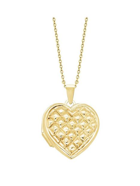 love-gold-love-gold-9ct-yellow-gold-18mm-quilt-pattern-heart-locket-on-18-curb-chain